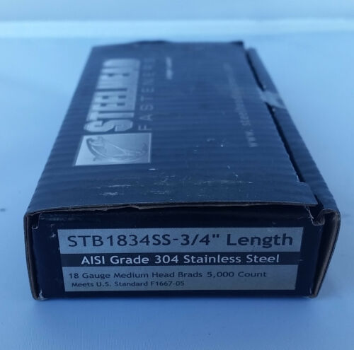 """3//4/"""" STAINLESS STEEL 18 GAUGE BRADS FOR SENCO,BOSTITCH,PORTER CABLE,DEWALT"""