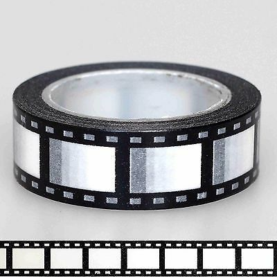 Movie Reel Film Camera Washi Tape Craft Scrapbooking Self-Adhesive 10m / Roll
