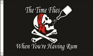 Time-Flies-when-your-having-Rum-Pirate-5ft-x-3ft-150cm-x-90cm-Flag