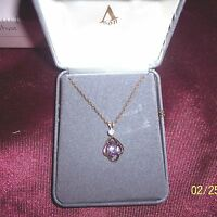 Necklace Avon Elegant Genuine Amethyst Vintage Gold Tone Chain 18 Long