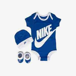 af86fb258 NEW NIKE AIR FUTURA 3 PIECE INFANT SET BABY BODYSUIT CAP BOOTIES 0-6 ...