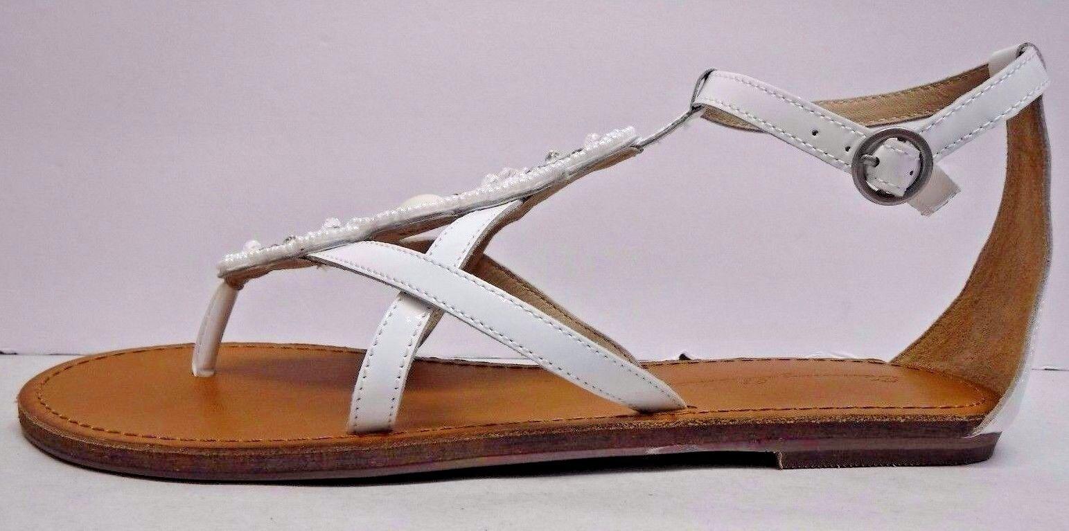Tommy Bahama Größe 7.5 WEISS Leder Glass Bead Embellishment New Damenschuhe Schuhes