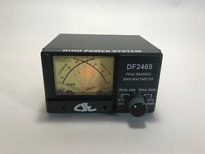 Cse Df2469 200 Watt Swr Power Dual Meter Cb Ham Radio Antenna Meter 26 30 Mhz Ebay