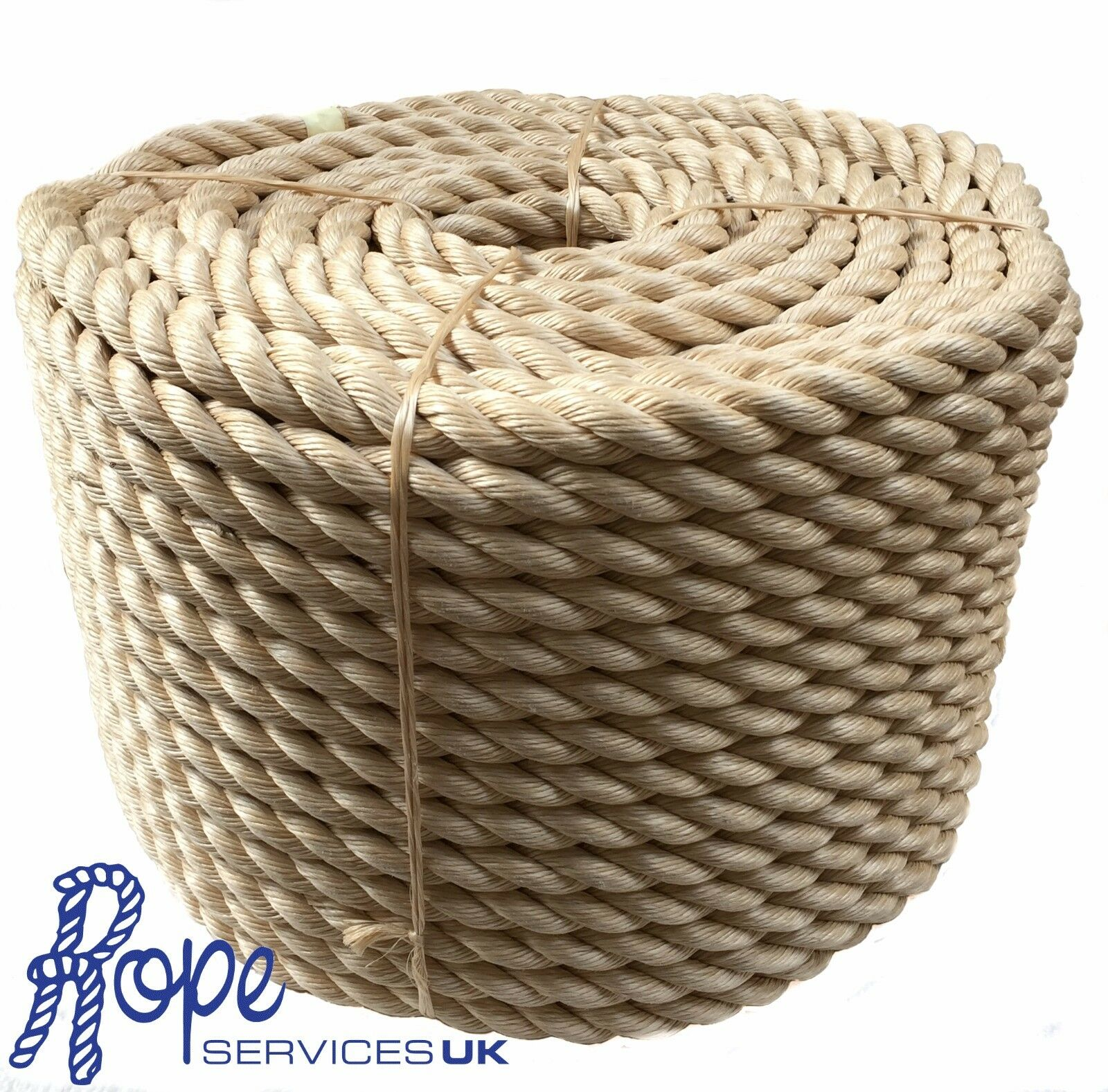 24mm x 50mts Rope - Synthetic Sisal, Sisal,For Decking, Garden & Boating,
