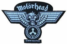 Motörhead-PATCH RICAMATE Wings Hammered logo cut out 10,3cm x 6,7cm