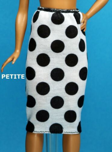 Barbie 2018 Fashionistas Black White Dot Pencil Skirt  CURVY TALL PETITE REGULAR