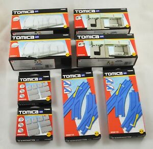 Large Job Lot 8 Sets Tomy Tomica Hypercity. Track, Pavement, Tunnels, Bridges