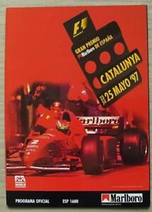 SPANISH-GRAND-PRIX-FORMULA-ONE-F1-1997-CATALUNYA-Motor-Sport-Official-Programme