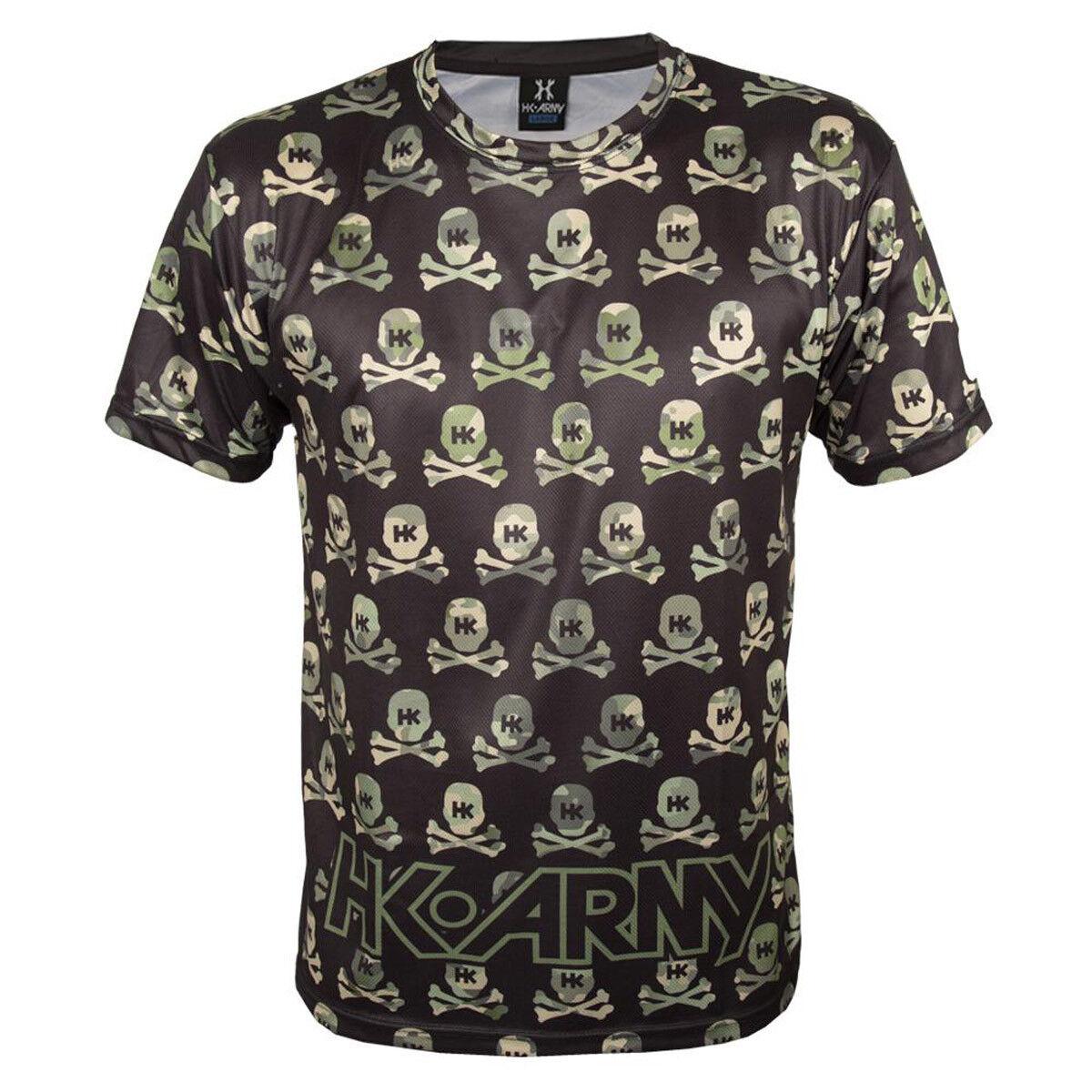 HK Army Dri Fit T-Shirt - All Over - Recon Camo Skulls - Medium