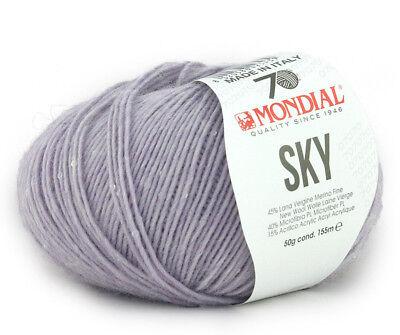 50g Sky mondial lana merino con lentejuelas merino lana 924 Sequin Yarn Sequins