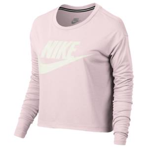 534a929f510f67 Nike Sportswear Women s Essential Crop Top Long Sleeve XL Pearl Pink ...