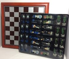Marines Vs Air Force Chessmen Summit Collection 5602 Game + Chess Board Rare