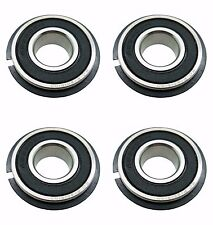 Four (4) Go Kart / Lawnmower Bearings w/Snap Ring 99502H NR 5/8 x 1-3/8 x .433