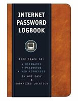 Cognac Internet Address Password Lock Book Logbook Organizer Personalized