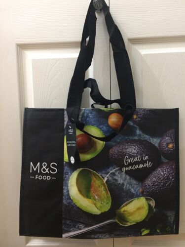Marks /& Spencer Large Shopping Bag M/&S Reusable Shopper Avocado Pic BNWT