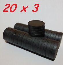 10 MAGNETI FERRITE 20X3 MM CALAMITA POTENTE FIMO CERAMICA MAGNETE CALAMITE