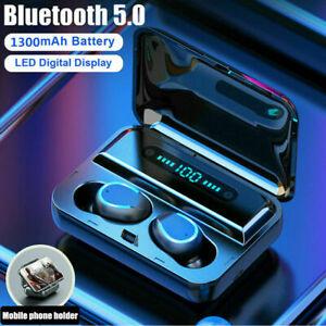 TWS Écouteur bluetooth 5.0 Sans Fil Stéréo 8D IPX7 LED Tactile pour IOS Android