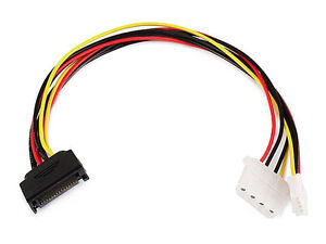 12-034-15-Pin-SATA-Serial-ATA-Male-to-4-Pin-Molex-4Pin-Floppy-Female-Power-Cable