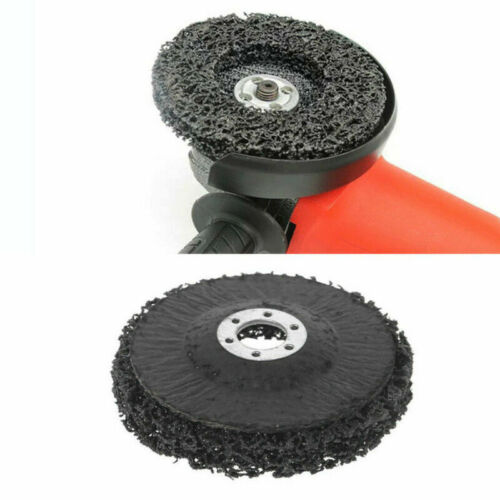 "5x 4/""inch Black Poly Strip Disc Wheel Paint Rust Removal Clean For Angle Grinder"