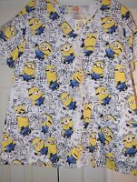 Despicable Me Minions Nurses Scrub Top Xs S M L Xl 2x 3x Minions Scrubs