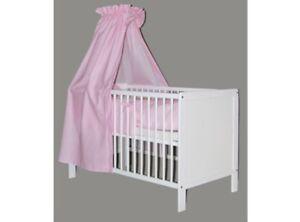 Details zu Babybett | Juniorbett | Kinderbett | umbaubar | weiss | 140x70  NILS Komplett Set