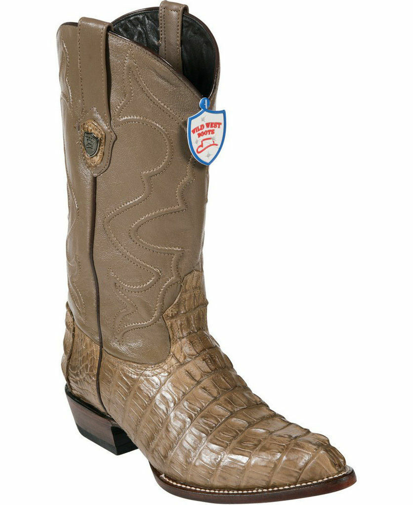 WILD WEST MINK GENUINE CROCODILE TAIL WESTERN COWBOY avvio J-TOE (EE+)