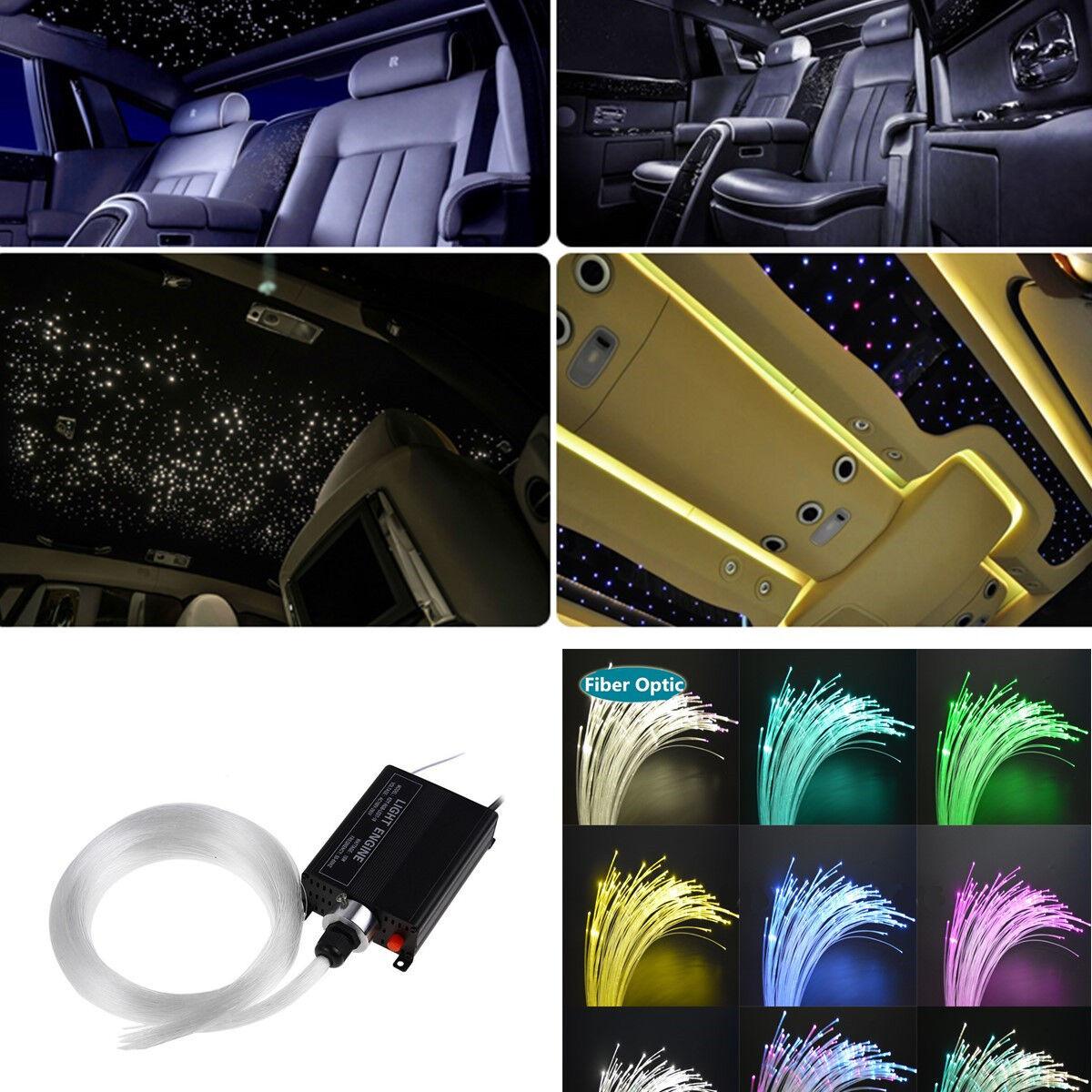 24key Remote + RGBW Light Source + Fiber 2017 Car Ceiling Light Fiber Optic Star