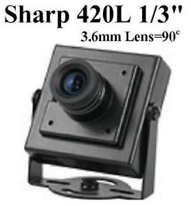 夏普ccd_GC-3122 1/3 Sharp CCD 3.6mm 420TVL Mini-box Spy CCTV BNC Camera | eBay
