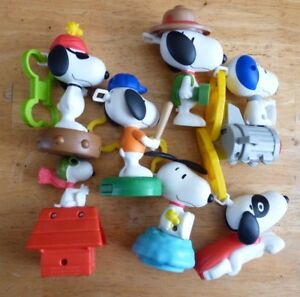 Special-Lot-of-7-PVC-Toys-or-and-Key-Rings-Charlie-Brown-Snoopy