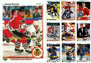 100-UPPER-DECK-1990-NHL-ENGLISH-FRENCH-RC-ROOKIE-amp-SET-LOT-U-PICK-FROM-LIST