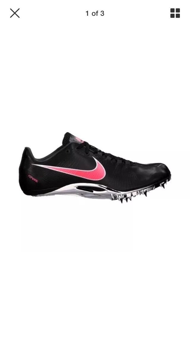 NIKE ZOOM JA FLY Track Running Shoe w/ Spikes 487624 061 Sz 12.5 Black/red NIb