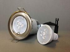 Philips GU10 3.5w Bombilla LED + Níquel Cepillado fuego kit de montaje de techo nominal