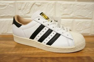 Superstar Black Size White Leather Ladies Trainers 4 Adidas Bnwb 80s New Womens AwqxOppa