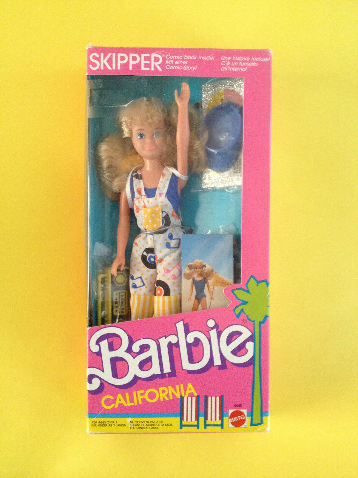 BARBIE EUROPEAN MARKET CALIFORNIA DREAM  SKIPPER NRFB 1986 VHTF  l'intera rete più bassa