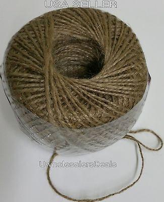 Natural Jute Twine Twist String 2 Ply 500 feet Garden Packing Crafts Burlap Cord