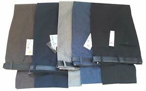 Para-Hombre-Pantalones-Casual-formal-de-trabajo-de-oficina-inteligente-en-la-cintura-30-034-50-034-L