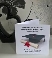 doctor degree graduation card 6 sq personalised son husband grandson