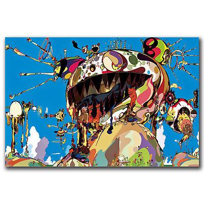 takashi murakami japanese Art Hot 12x18 24x36in FABRIC Poster N2924