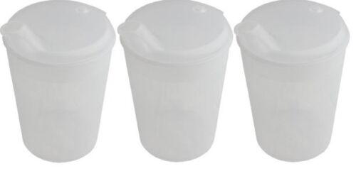 3 Stück Schnabelbecher Transparent Öffnung 12 x10 mm   Schnabeltasse Trinkbecher