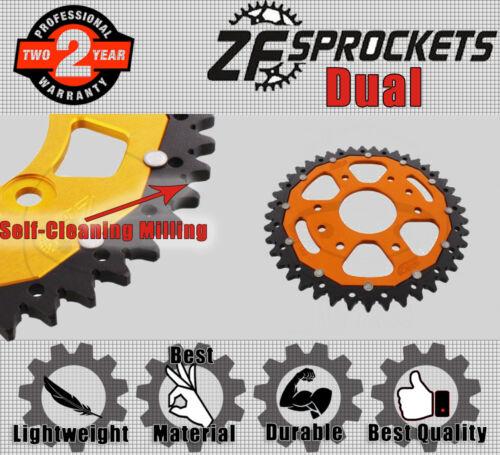ZF Dual Rear Sprocket 43T 520P Orange  for KTM Duke