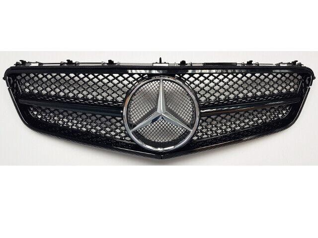 W207 E-Klasse Coupe Cabrio Einzeln Leiste Gitter Gitter Gitter Glanz Schwarz AMG mit Chrom 53d019