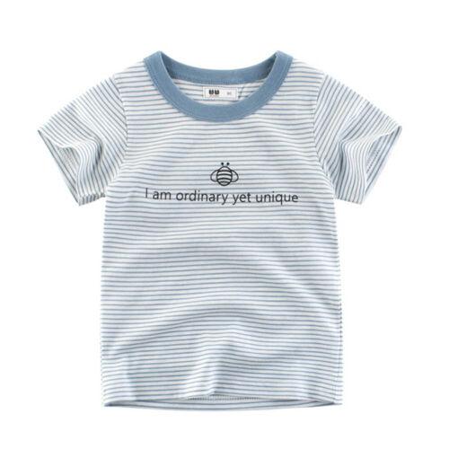 Summer Garçons Bébé T-shirts à rayures à manches courtes Tops Enfant Coton T-shirts NEW