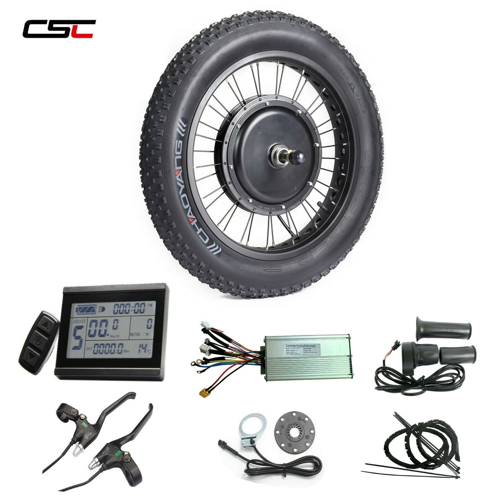 48V Anticharge divertiuominitoction fat tire e bicicletta conversion kit 1500W with wide tyre