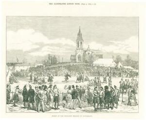 1874-Antique-Print-HAMPSHIRE-Aldershot-Highland-Brigade-Sports-Military-73