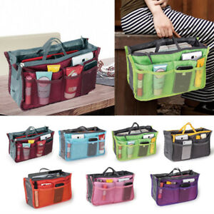 Image Is Loading Women Lady Travel Insert Handbag Organiser Purse Large