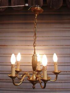 Superbe-lustre-bronze-de-style-DIRECTOIRE-etat-neuf-etat-de-marche