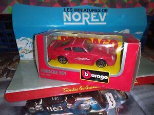 BURAGO-1-43-PORSCHE-959-RACING-NEUF-EN-BOITE