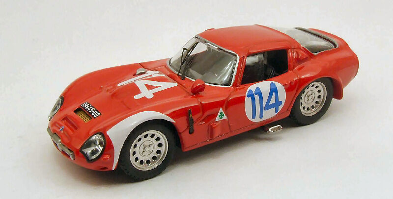 Alfa Romeo Tz2  114 13th Targa Florio 1966 Geki   Zeccoli 1 43 Model BEST MODELS