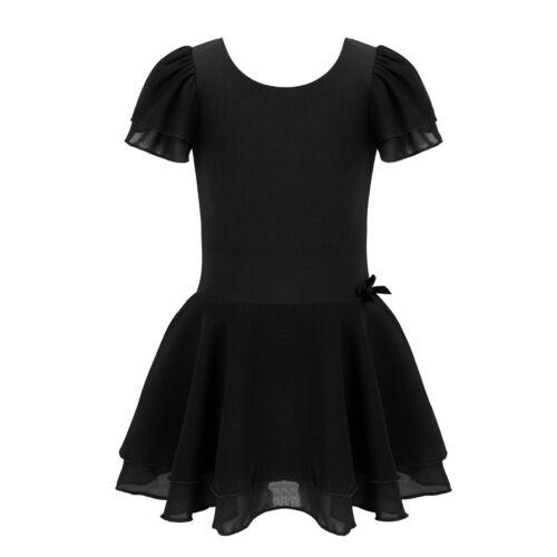 Girls Kids Toddler Gymnastics Ballet Dress Leotard Tutu Skirt Dance wear Costume