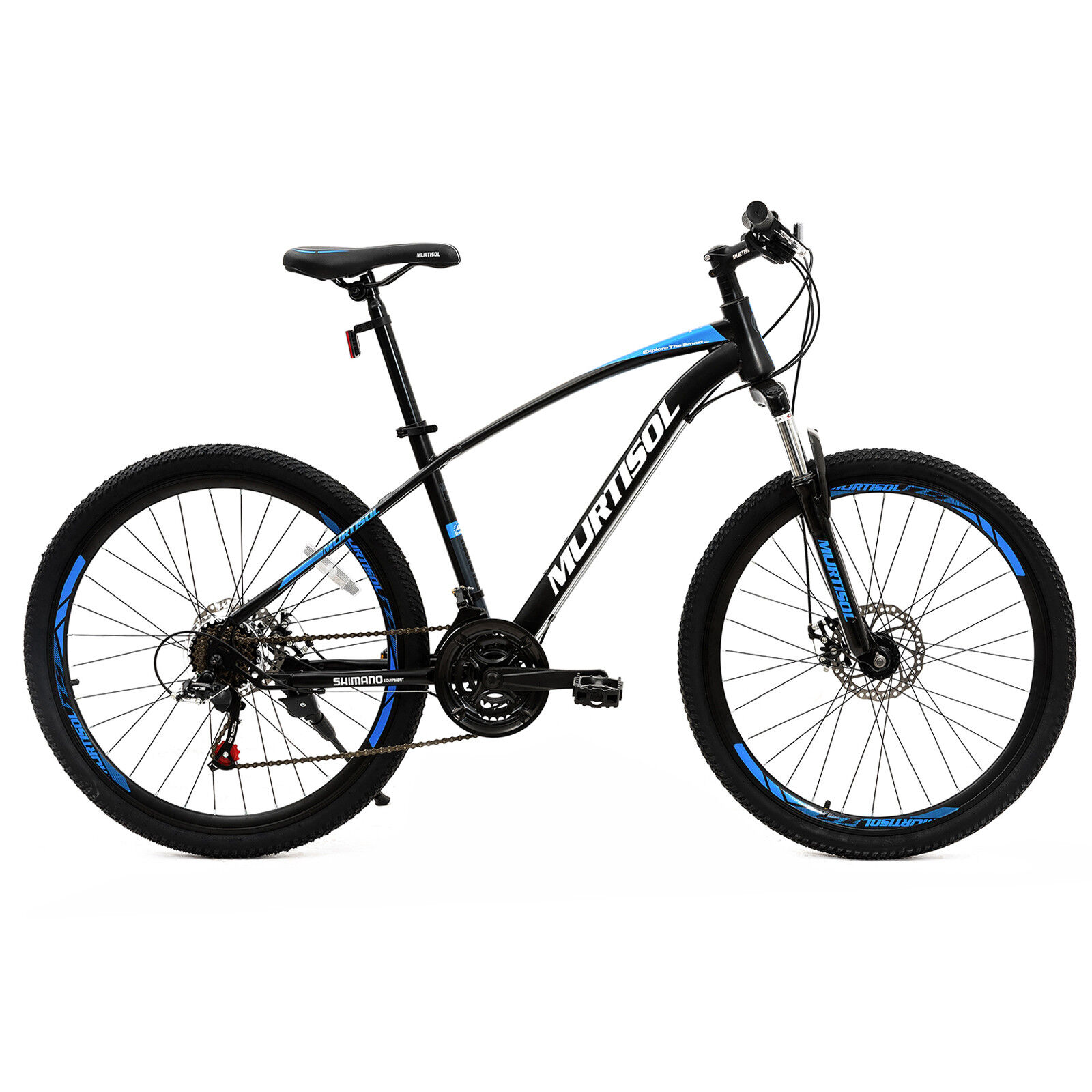 26  Stell Mountain Bike Bicycle bluee 21 Speed Disc Brakes Front Suspension